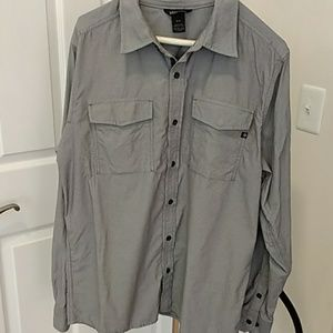 Marmot Long Sleeve Gray Button Down Sz Medium